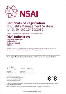 ISO 13485; delivery system, IOL